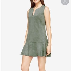 NWT BCBG MAX AZRIA Faux Suede Dress